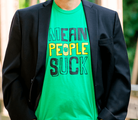 Buy A Mean People Suck T-Shirt and Get A Signed Copy of the Book FREE